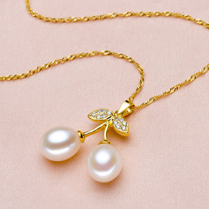 LACEY pearl pendant gold fine jewelry,natural freshwater pearl pendant necklace - Beltran's Enterprise