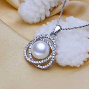 Sterling silver jewelry pendant,big natural freshwater pearl pendant necklace - Beltran's Enterprise
