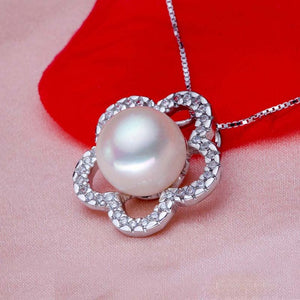 Fashion natural freshwater pearl pendant necklace for women,silver pearl jewelry - Beltran's Enterprise