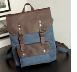 Fashion Backpack Leather Canvas men backpack School Bag Military Backpack - Beltran's Enterprise