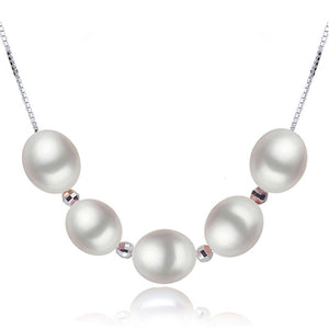 Facey freshwater pearl pendant jewelry women 925 silver,natural pearl necklace - Beltran's Enterprise