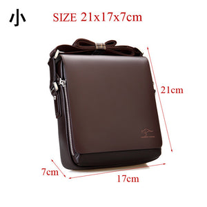 Authentic brand composite leather bag casual male shoulder briefcase kangaroo messenger bag - Beltran's Enterprise
