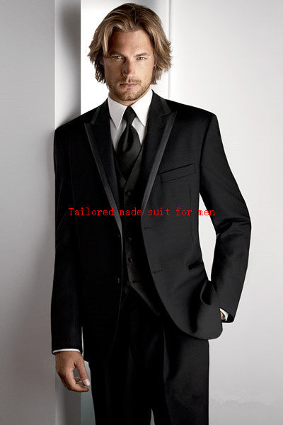Custom Made Light Grey Black Formal Dress Men Suit Terno Palace Wedding Suits for Men - Beltran's Enterprise