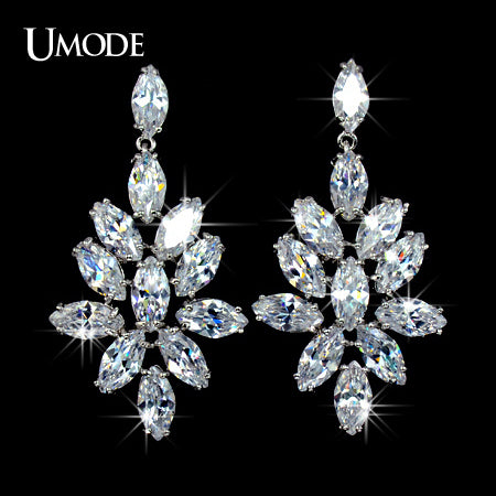 UMODE 'Blossoming of Love' Marquise-cut CZ Cubic Zirconia Bridal Dangle Earring - Beltran's Enterprise