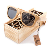 BOBO BIRD Wood Sunglasses Brand Designer brown wooden sunglasses Style Square Style Square - Beltran's Enterprise