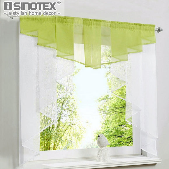 Roman Curtain Blind 11 Colors Fashion Pleated Design Stitching Colors Tulle Balcony Kitchen - Beltran's Enterprise