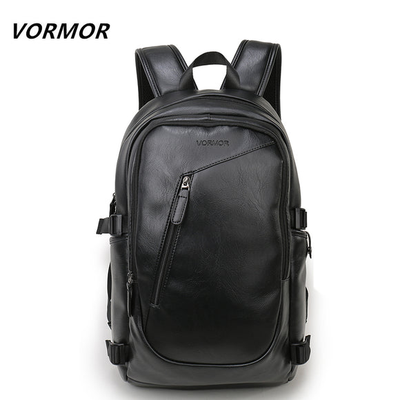 2017 VORMOR Brand waterproof 15.6 inch laptop backpack men leather backpacks - Beltran's Enterprise