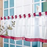 Half-curtain Embroidery Solid Window Valance Customize Coffee Roman Tulle Curtain - Beltran's Enterprise
