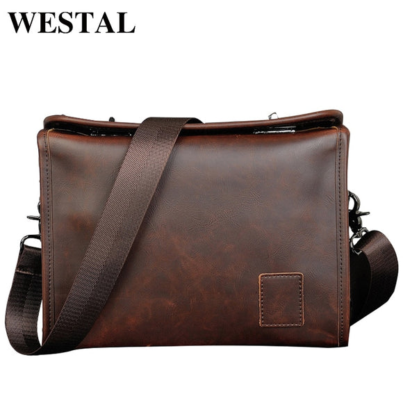 WESTAL Vintage PU Leather Men Bag Men Messenger Bags - Beltran's Enterprise