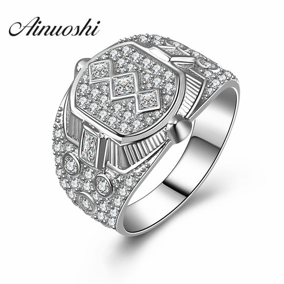 Genuine 925 Fine Jewelry Engagement Men Rings Luxury Quality Charms Cool Designer - Beltran's Enterprise