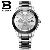 Luxury Brand Switzerland Wristwatches BINGER Mechanical Wristwatches Ceramic Chronograph - Beltran's Enterprise