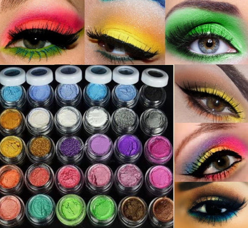 New Quality 30 Colors Eye Shadow Powder  pigment Colorful Makeup Mineral Eyeshadow + brush Pigment beauty & health  cosmetic - Beltran's Enterprise