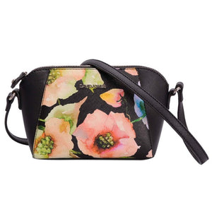 DAVIDJONES Women Floral Crossbody Bag Small Messenger Mini Saddle Femal Shoulder Bags - Beltran's Enterprise