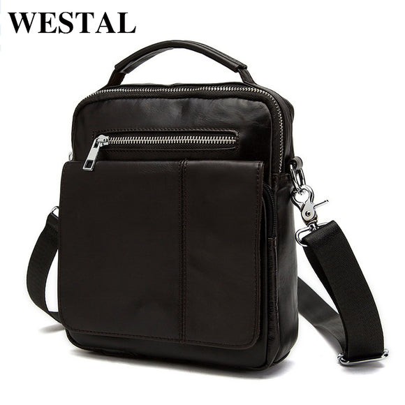 WESTAL men bags cowhide leather small men bag genuine leather crossbody bags men's messenger bag - Beltran's Enterprise