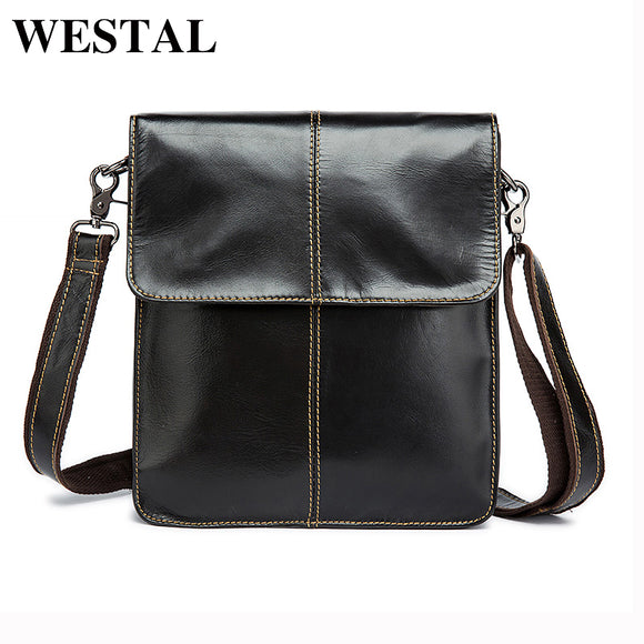 WESTAL Simple Genuine Leather Men Bag Man Crossbody Shoulder Bag Men Small Business Bags - Beltran's Enterprise
