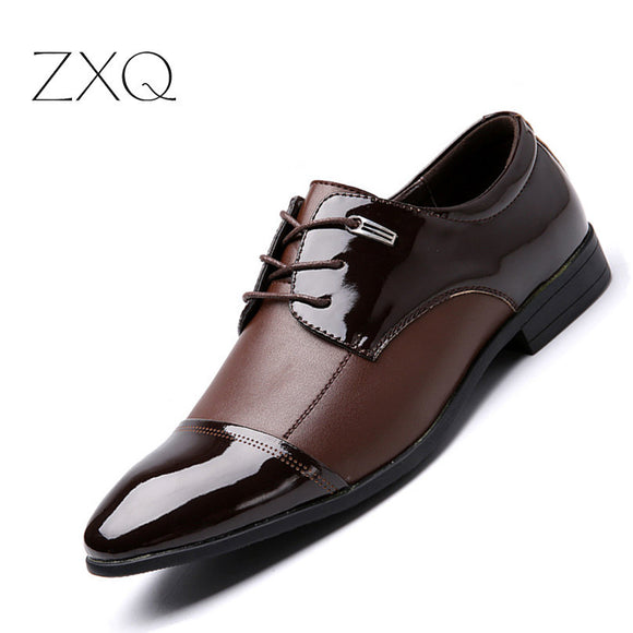 ZXQ Plus Size 38-47 Men Business Casual Shoes Men Falts Oxford Dress Shoes For Men High Quality - Beltran's Enterprise