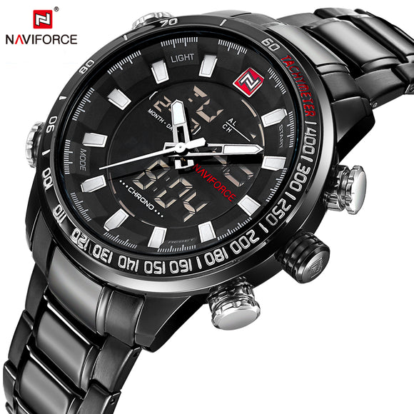 NAVIFORCE Top Brand Luxury Mens Watches Fashion Casual Sport Wristwatch Waterproof - Beltran's Enterprise