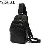 WESTAL Men Bags causal men's leather crossbody bag genuine leather messenger shoulder bag - Beltran's Enterprise
