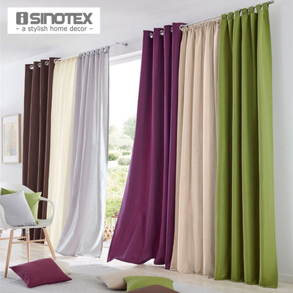 1PCS Solid Colors Blackout Blinds Curtains Linen for the Bedroom Faux Linen Modern - Beltran's Enterprise