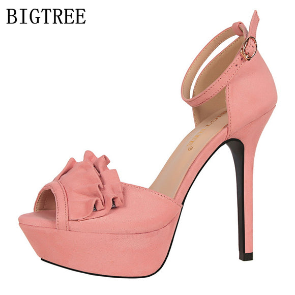 elegant mary jane shoes sandals women luxury brand platform sandals designer bigtree shoes - Beltran's Enterprise