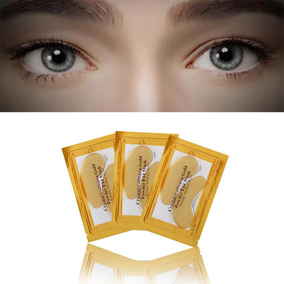 Newest!!! 24k Gold Eye Collagen Aging Wrinkle Under Crystal Gel Patch Anti Mask - Beltran's Enterprise