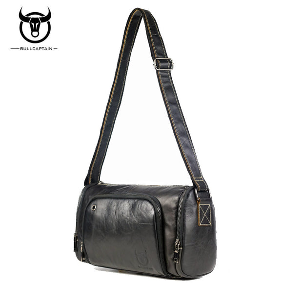 BULL CAPTAIN 2017 Fashion Leather Male Shoulder Bags Large Capacity Crossbody Bags - Beltran's Enterprise