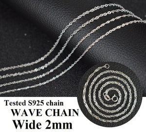 Almei Tested 925 Sterling Silver Chain Kinds of Types Box Snake Twisted Singapore Link Rolo - Beltran's Enterprise