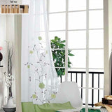 Window Treatment Curtain Sheer Voile Tulle Hook Tab Top Hole Polyester Floral - Beltran's Enterprise