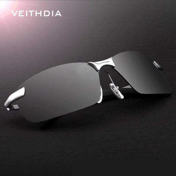 Veithdia Brand Rimless Polarized mens Rimless sunglasses designer Sun Glasses Driving Goggle - Beltran's Enterprise