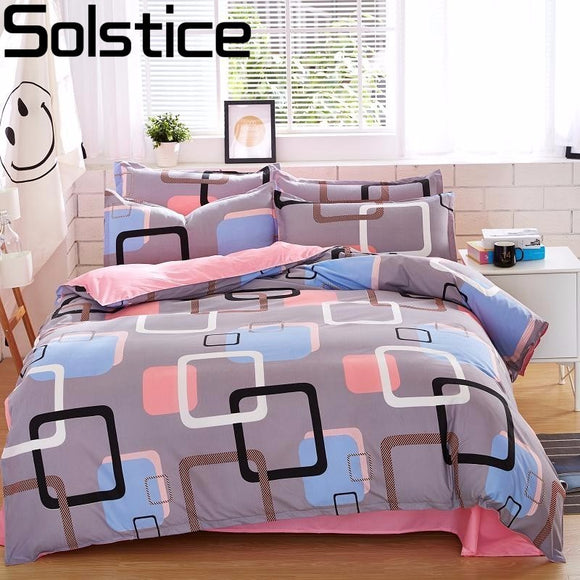 Solstice Home Textile Autumn Dark-color Flower Series  Bed Linens 4pcs Bedding Sets - Beltran's Enterprise