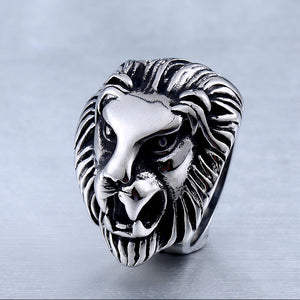 2017 Wholesale price  Fashion Stainless Steel Jewelry Cool Animal Lion Head Ring for man women - Beltran's Enterprise