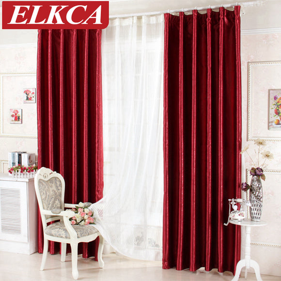 Luxury Rose Printed Red Blackout Curtains for Living Room Window Curtains - Beltran's Enterprise