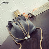 Women Fashion Solid Handbag Drawstring Shoulder Bag Tote Ladies Purse Women Messenger Bags - Beltran's Enterprise