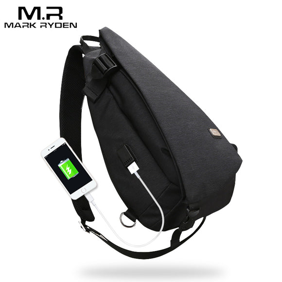 Markryden New Arrivals USB Design High Capacity Chest bag Men Crossbody Bag - Beltran's Enterprise