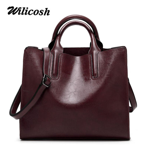 Wilicosh Top-handle Bags Fashion Bag For Women 2017 PU Leather Shoulder Bags - Beltran's Enterprise