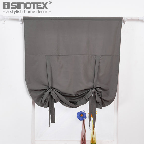 Polyester Roman Curtain Window Treatment Solid Colors Ribbon Decoration Living Rooom - Beltran's Enterprise