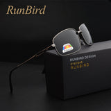 RunBird Brand Classic Black Square Polarized Sunglasses Men Driving Sun Glasses for Man - Beltran's Enterprise