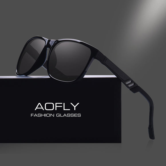 AOFLY BRAND DESIGN Classic Polarized Sunglasses Men Vintage Polaroid HD Lens Sun - Beltran's Enterprise