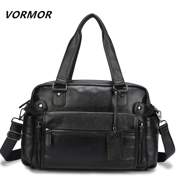 VORMOR PU Leather Bag Business Men Handbags Men's Travel Bags Laptop Briefcase Bag for Man - Beltran's Enterprise