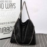 Women Crossbody Bags Falabellas leather Shoulder Bag stella 3 silver chains Bolso Socialite Tote - Beltran's Enterprise