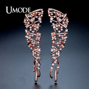 UMODE Hot Punk Style Statement Cross Drop Earrings for Women Rose Gold Color Wedding Party Jewelry Brincos Christmas Gift UE0317 - Beltran's Enterprise