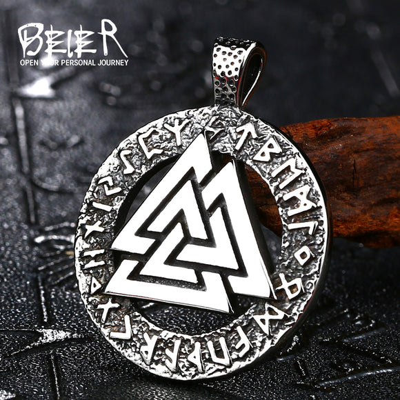 BEIER wholesale price Thor Hammer Mjolnir Viking triangle pendant necklace Norse  fashion Men - Beltran's Enterprise