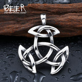 BEIER Northern Europe Viking Stainless Steel Pendants Necklace Cool Fashion Unique Jewelry - Beltran's Enterprise