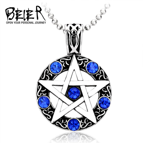2017 Cool Northern Europe Viking Necklaces For Men Stainless Steel Pedant Trendy - Beltran's Enterprise