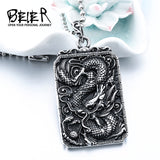 Beier China letter Drag Dargon Pendant For Man And Woman Stainless Steel Personality Jewelry - Beltran's Enterprise