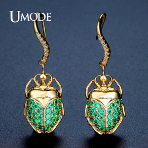 UMODE Brand New Fashion Jewelry Beetle Shape Drop Earrings Women Gold Color Wedding Party Pendientes Mujer Christmas Gift UE0316 - Beltran's Enterprise