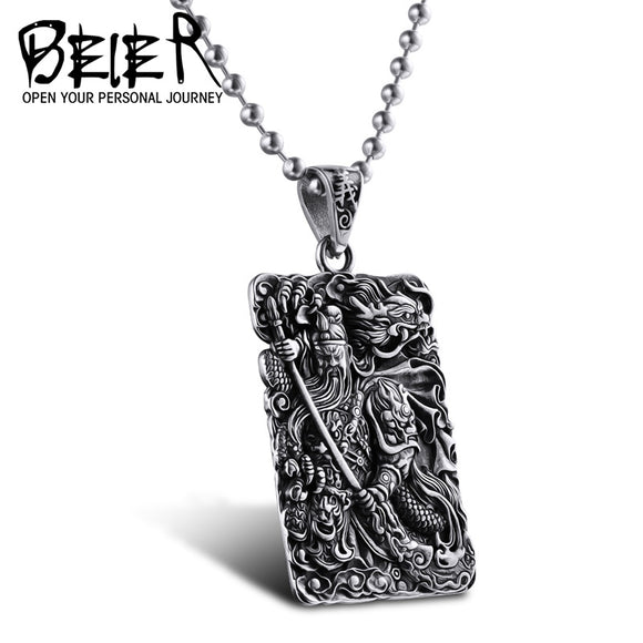 2017 new store  Stainless Steel Chinese Style fashion  Pendant For Man or women - Beltran's Enterprise
