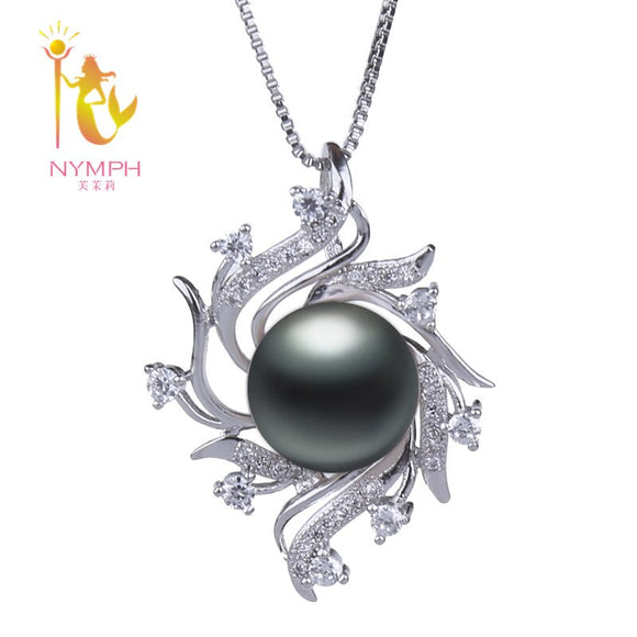 NYMPH Natural Freshwater Pearl Necklace Pendant Jewlery Big 10-11MM - Beltran's Enterprise