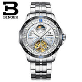 Switzerland BINGER Watch Men Luxury Brand Mens Watches Tourbillon Automatic Mechanica Wristwatch - Beltran's Enterprise