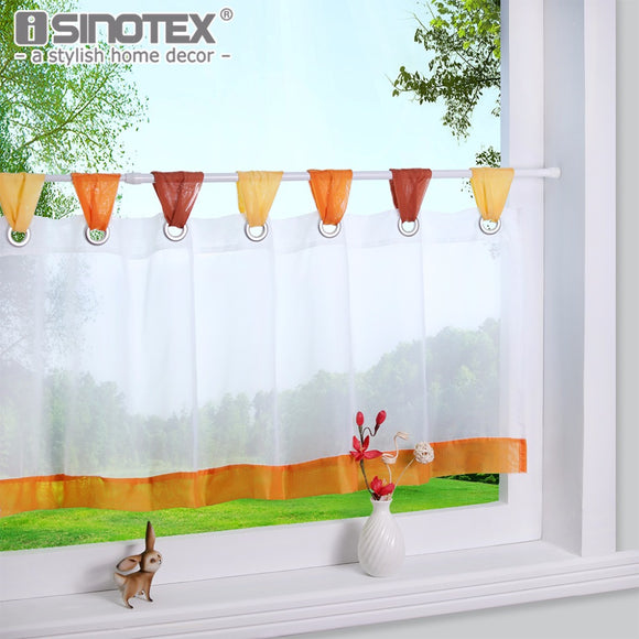 Curtain for the Kitchen Fashion Cafe Embroidered 100% Polyester Pastoral Style Small Cafe Curtain - Beltran's Enterprise